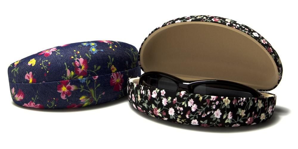 floral pattern fabric sunglasses cases wholesale cv805