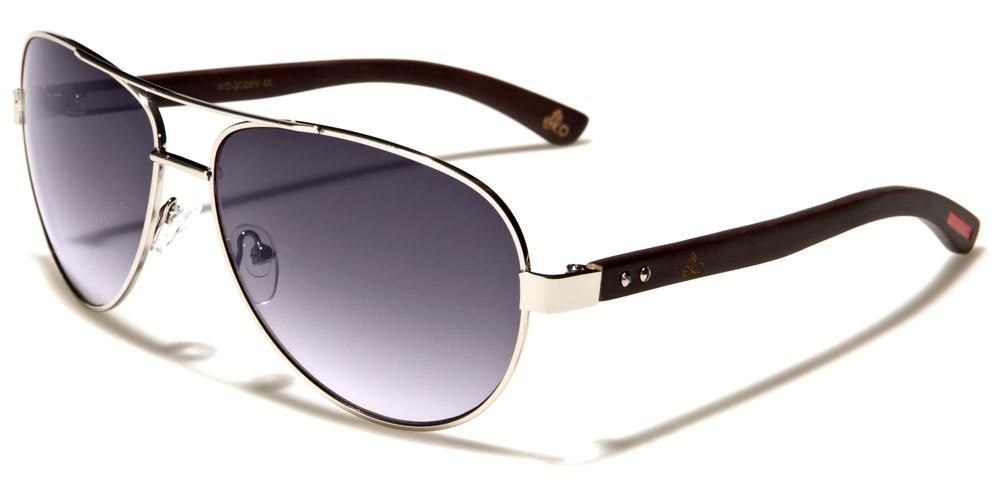 fb9101ff60a8f Aviator Wood Unisex Sunglasses In Bulk WD-2029M