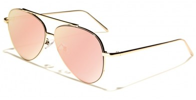 Aviator Pink Flat Lens Bulk Sunglasses AV-1480-FT-PINK - One Pair