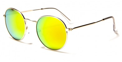 Round Mirrored Unisex Wholesale Sunglasses 711014