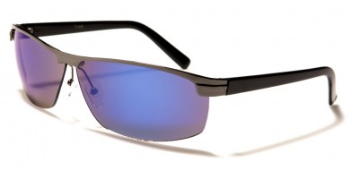 Semi-Rimless Oval Men's Bulk Sunglasses 711028