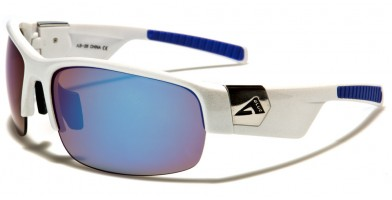 Arctic Blue Semi-Rimless Wholesale Sunglasses AB-26