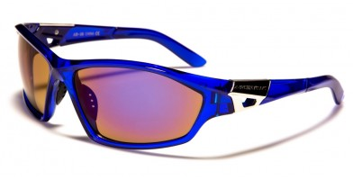Arctic Blue Wrap Around Men's Wholesale Sunglasses AB-38