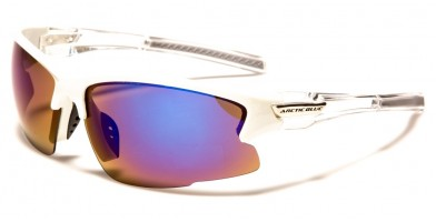 Arctic Blue Wrap Around Men's Wholesale Sunglasses AB-45