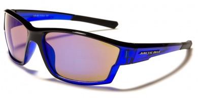 Arctic Blue Wrap Around Men's Bulk Sunglasses AB-51