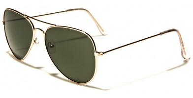 Air Force Aviator Unisex Sunglasses Bulk AF101-GOLD
