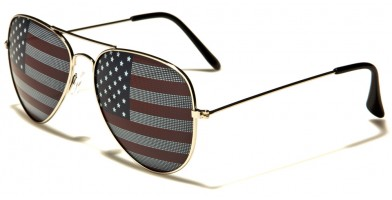 Air Force Aviator USA Flag Wholesale Sunglasses AF101-USA