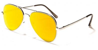 Flat Lens Aviator Unisex Bulk Sunglasses AF109-FLATCM
