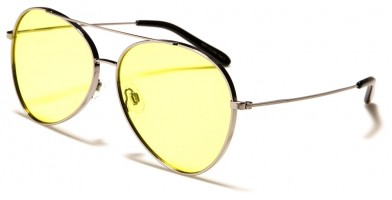 Air Force Aviator Yellow Lens Bulk Sunglasses AF113-ND