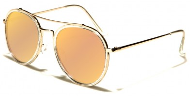 Aviator Pink Lens Women's Sunglasses Wholesale AV-1476-PINK