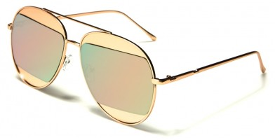 Aviator Pink Lens Women's Wholesale Sunglasses AV-1521-PINK