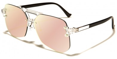 Rimless Aviator Unisex Wholesale Sunglasses AV-1541-CM