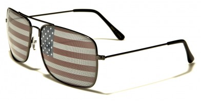 USA Flag Aviator Men's Bulk Sunglasses AV1307-USA