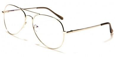 Blue Light Blocking Aviator Wholesale Glasses BL2000-SILV