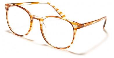 Blue Light Blocking Classic Wholesale Glasses BL2008-PNK-BRN