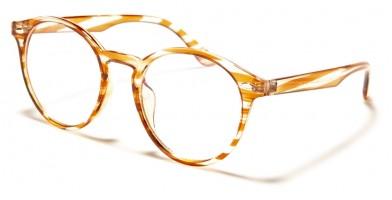 Blue Light Blocking Classic Glasses Wholesale BL2009-PNK-BRN