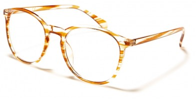 Blue Light Blocking Classic Glasses in Bulk BL2010-PNK-BRN