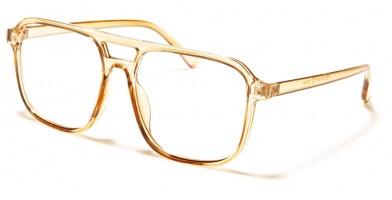 Blue Light Blocking Aviator Glasses in Bulk BL2012-LT-BRN