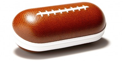 Football Faux Leather Zipper Wholesale Sunglasses Cases CASE-203FB
