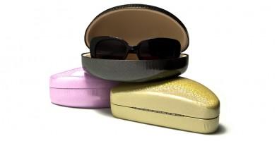 Clam Shell Glitter Sunglasses Cases Wholesale CV811