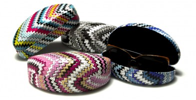 Colorful Zigzag Print Sunglasses Cases Wholesale CV830