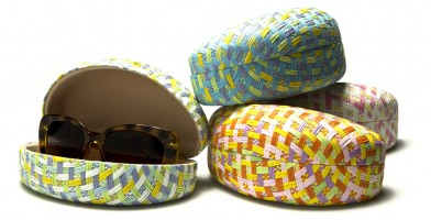 Pastel Paper Woven Sunglasses Cases Wholesale CW895-PAPER