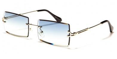 Giselle Rimless Rectangle Sunglasses Wholesale GSL28203