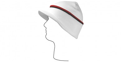 White/Red/Black Visor Beanie Cap Wholesale HSH2104