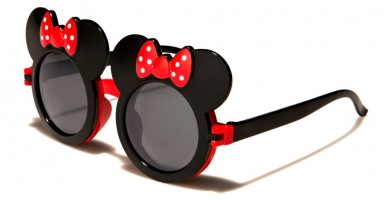 Mouse Ears Round Kids Sunglasses In Bulk K-766