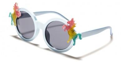 Kids Round Unicorn Sunglasses in Bulk K-855