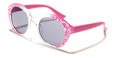 Kids Fashion Round Wholesale Sunglasses K-856