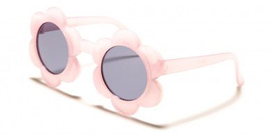 Kids Round Flower Bulk Sunglasses K-858
