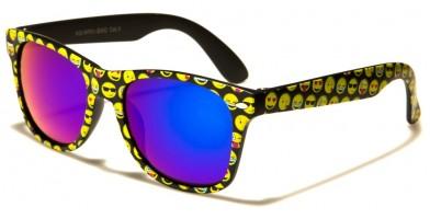 Emoji Print Classic Kids Sunglasses Bulk KG-WF01-EMO