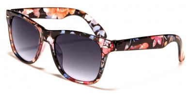 Kids Classic Flower Print Wholesale Sunglasses KG-WF01-FLW