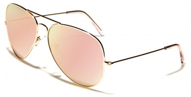 Aviator Pink Lens Women's Sunglasses Bulk L6258-PINK-RV