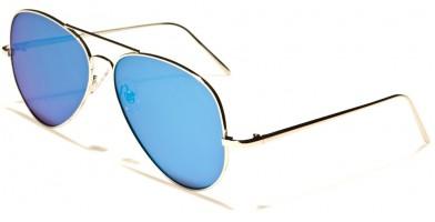 Aviator Flat Lens Unisex Bulk Sunglasses L6322-FT-CM