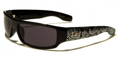 Locs Bandana Pattern Men's Wholesale Sunglasses LOC9003-BDNA