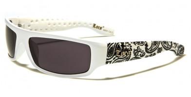 Locs Bandana Pattern Men's Sunglasses Wholesale LOC9003-BDNWHT