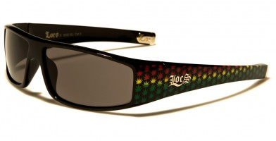 Locs Marijuana Pattern Men's Sunglasses Bulk LOC9035-MJ