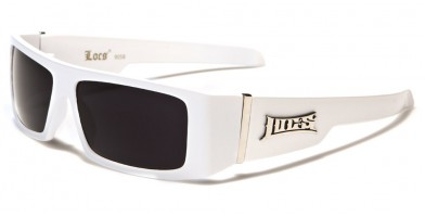 Locs Rectangle Men's Bulk Sunglasses LOC9058-WHT