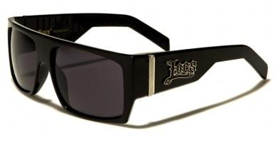 Locs Rectangle Men's Bulk Sunglasses LOC91010-BK