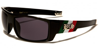Locs Mexican Flag Colors Wholesale Sunglasses LOC91025-MEX