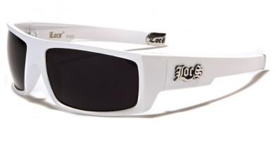 Locs Rectangle Men's Bulk Sunglasses LOC91025-WHT