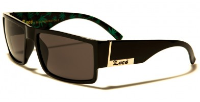 Locs Marijuana Pattern Men's Wholesale Sunglasses LOC91026-MJ2