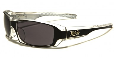 Locs Rectangle Men's Bulk Sunglasses LOC91042-BKWHT