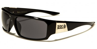 Locs Rectangle Men's Sunglasses Wholesale LOC91058-BK