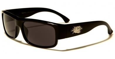 Locs Rectangle Men's Sunglasses Wholesale LOC91065-BK
