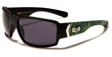 Locs Marijuana Leaf Print Sunglasses Bulk LOC91084-MJ