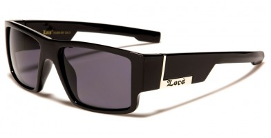 Locs Square Men's Wholesale Sunglasses LOC91085-BK