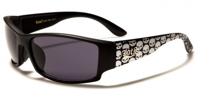 Locs Skull Print Rectangle Bulk Sunglasses LOC91087-SKL